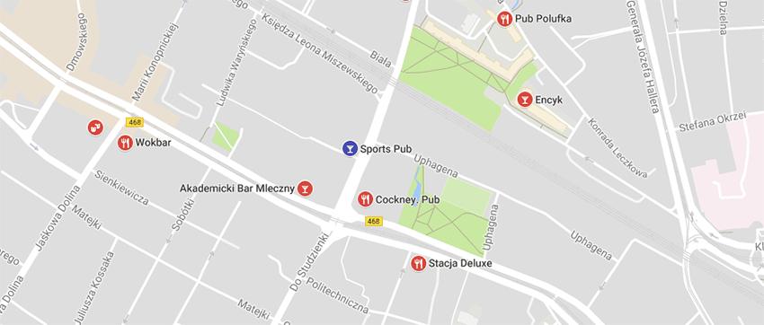 Mapa lokalizacji Sports Pub'u