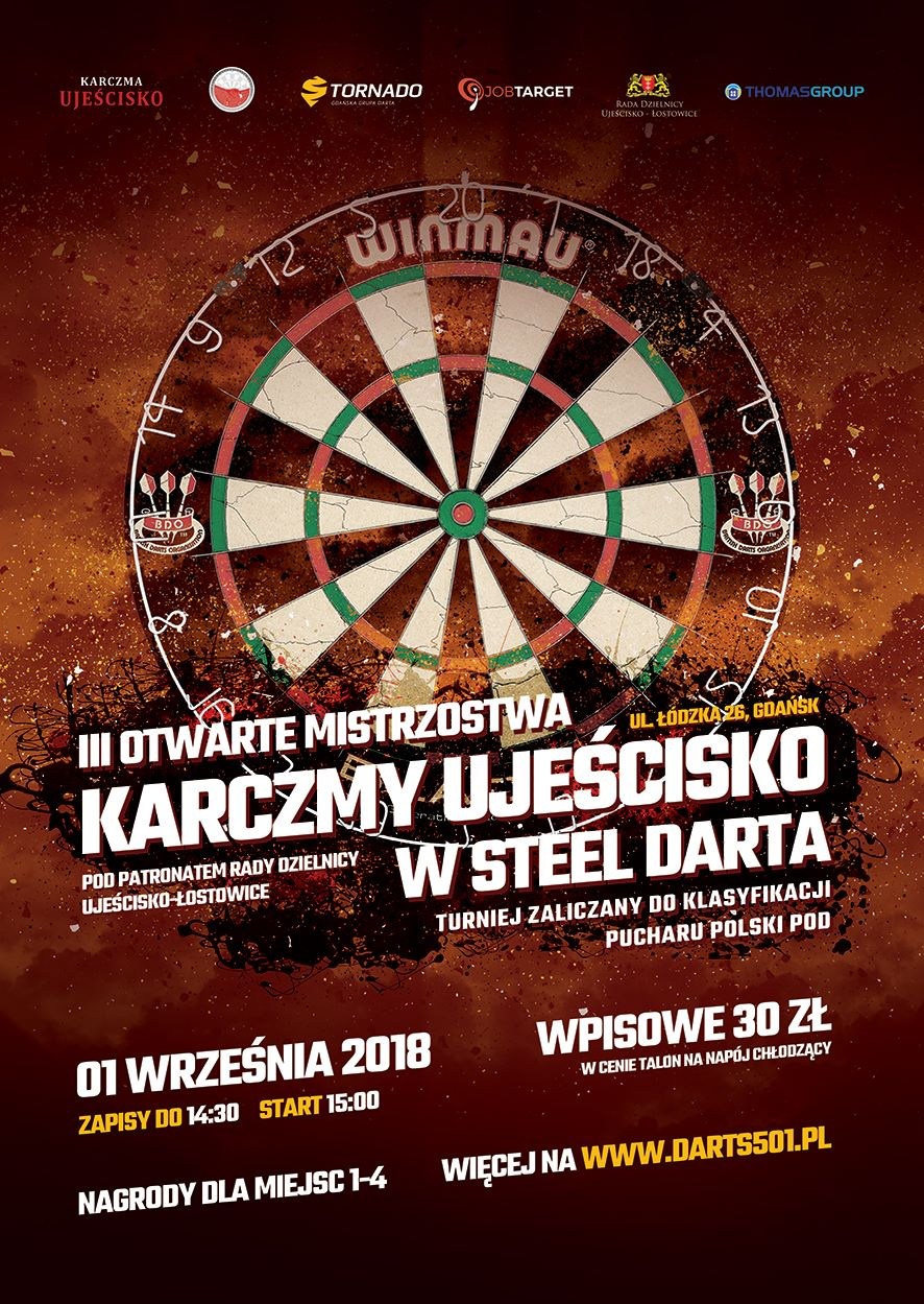 III Otwarte Mistrzostwa Karczmy Ujeścisko w Steel Darta